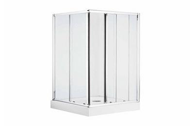 方型移门淋浴房(亮银色)