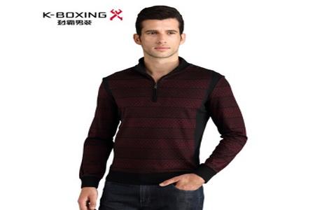 劲霸男装K-Boxing 时尚精美提花T恤衫