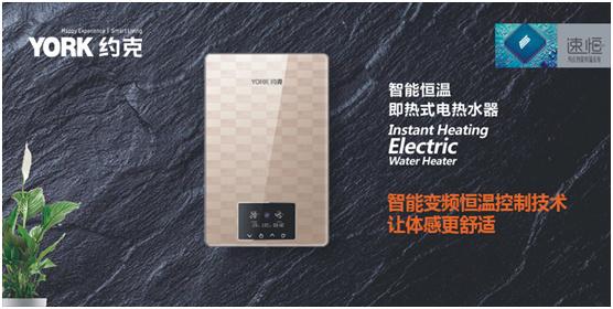 "YORK约克荣获""中国十大即热式热水器品牌""称号"