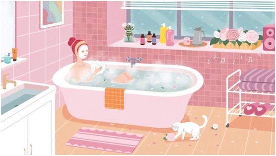 """在简洁淋浴房里,""""沐浴""""春光,相遇美好"""